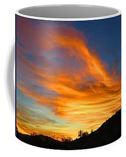Flaming Hand Sunset Coffee Mug