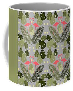 Flamingo And Palms Coffee Mug