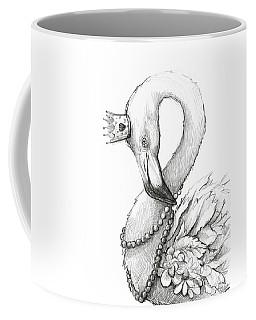 Flamingo In Pearl Necklace Coffee Mug
