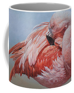 Flamingo Preening Coffee Mug