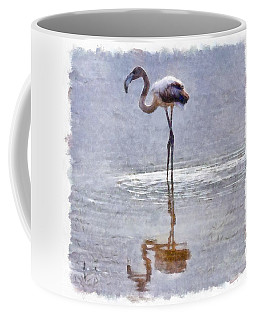 Flamingo Ripples And Reflections Watercolor Coffee Mug