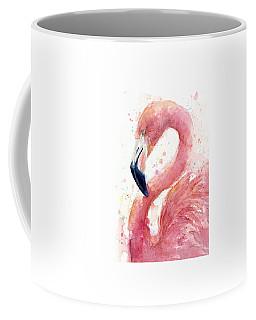 Flamingo Watercolor Painting Coffee Mug
