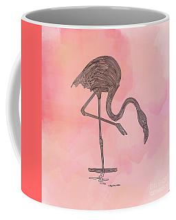 Coffee Mug featuring the digital art Flamingo4 by Megan Dirsa-DuBois