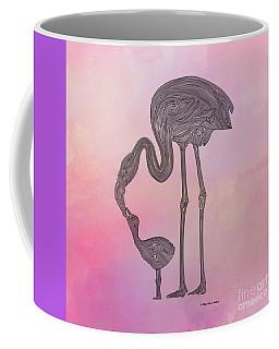 Coffee Mug featuring the digital art Flamingo6 by Megan Dirsa-DuBois