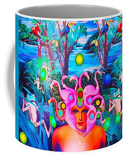 Flamingodeusa In The Neon Jungle Coffee Mug