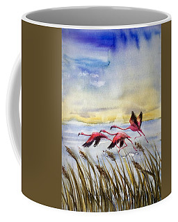 Flamingoes Flight Coffee Mug