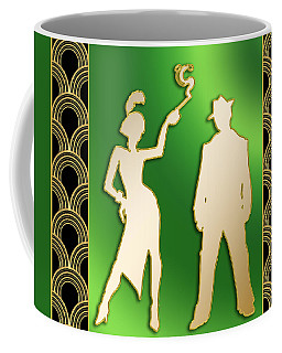 Coffee Mug featuring the digital art Flapper And The Gangster by Chuck Staley