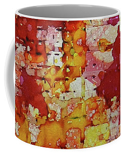 Coffee Mug featuring the painting Flare Up Ink #8 by Sarajane Helm
