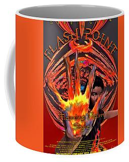Coffee Mug featuring the digital art Flash Point by Iowan Stone-Flowers