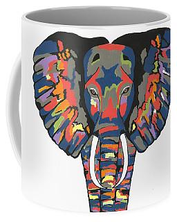 Flashy Elephant - Contemporary Animal Painting Coffee Mug