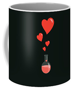 Flask Of Hearts Coffee Mug