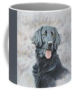 Flat Coated Retriever Portrait Coffee Mug