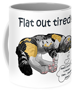 Flat Out Tired Coffee Mug