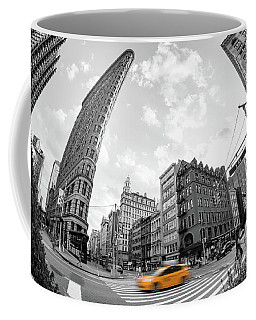 Flatiron Building With Iconic Yellow Taxi Coffee Mug