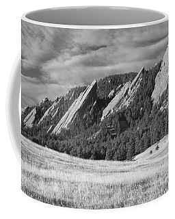 Flatiron Morning Light Boulder Colorado Bw Coffee Mug