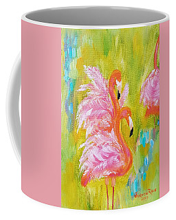 Coffee Mug featuring the painting Flaunting Feathers by Judith Rhue