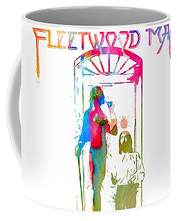 Fleetwood Mac Album Cover Watercolor Coffee Mug