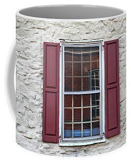 Coffee Mug featuring the photograph Flemington, Nj - Side Shop Window by Frank Romeo