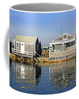Coffee Mug featuring the photograph Fletchers Camp And The Little House Sandy Neck by Charles Harden