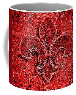 Fleur De Lis Red Ice Coffee Mug