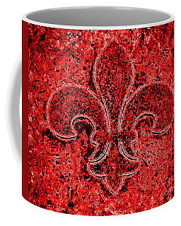 Fleur De Lis Red Ice Coffee Mug