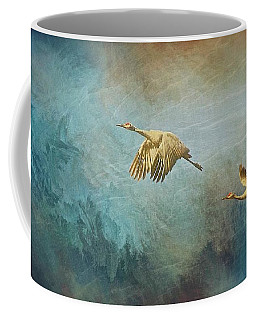 Flight Of Fantasy, Sandhill Cranes Coffee Mug