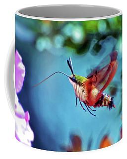 Coffee Mug featuring the photograph Flight Of Mystery - Hummingbird Moth by Kerri Farley