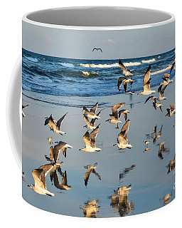 Flight Of The Seagull Coffee Mug by Debbie Green