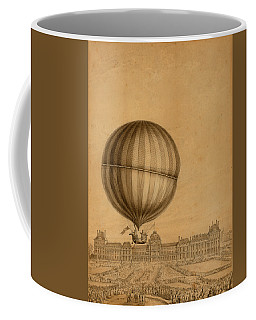Flight Over Paris Coffee Mug