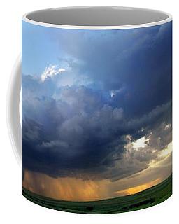 Flint Hills Storm Panorama 2 Coffee Mug