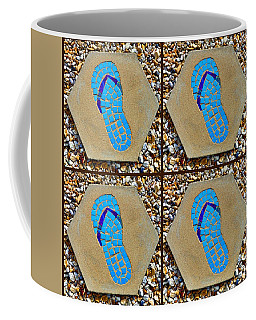 Flip Flop Square Collage Coffee Mug