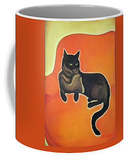 Coffee Mug featuring the painting Floating Bebe by Denise Fulmer
