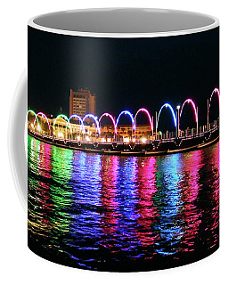 Coffee Mug featuring the photograph Floating Bridge, Willemstad, Curacao by Kurt Van Wagner