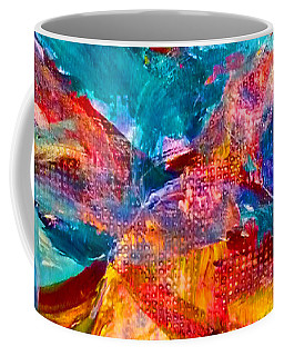 Coffee Mug featuring the painting Floating Feather Swirls by Claire Bull