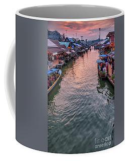 Floating Market Sunset Coffee Mug