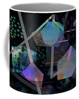 Coffee Mug featuring the digital art Floating Original Abstract Art by Ann Powell