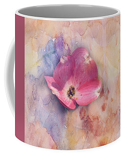 Coffee Mug featuring the photograph Floating Pink Bloom by Toni Hopper