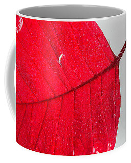 Floating Red Leaf Coffee Mug