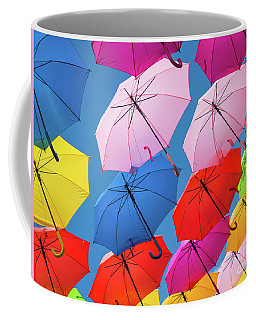 Floating Umbrellas Coffee Mug