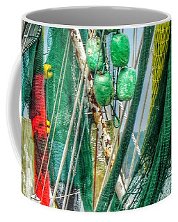 Coffee Mug featuring the photograph Floats Ropes And Nets by Patricia Greer