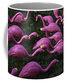 Flock Of  Plastic Flamingos Coffee Mug