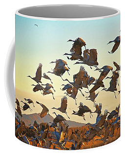 Liftoff, Sandhill Cranes Coffee Mug