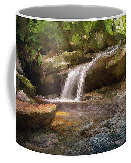 Flooded Waterfall In The Forest Coffee Mug