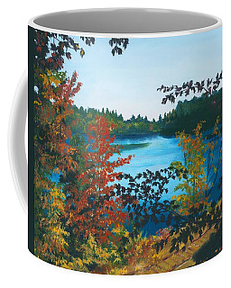 Coffee Mug featuring the painting Floodwood by Lynne Reichhart