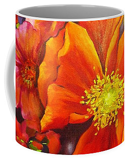 Coffee Mug featuring the painting Floral Abundance by Chris Hobel