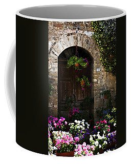 Floral Adorned Doorway Coffee Mug