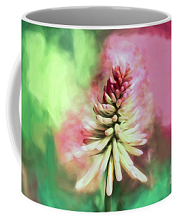 Coffee Mug featuring the photograph Floral Art - Red Hot Poker by Kerri Farley