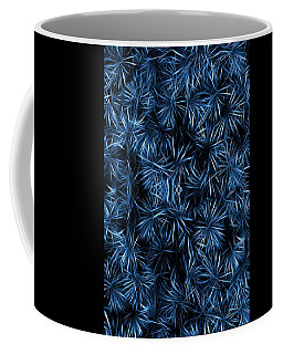 Coffee Mug featuring the painting Floral Blue Abstract by David Dehner
