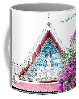 Floral Buddha Coffee Mug by John Potts