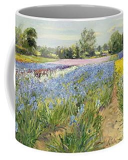 Floral Chessboard Coffee Mug